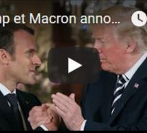 """Trump et Macron annoncent des """"positions communes"""" sur la Syrie et l'Iran"""