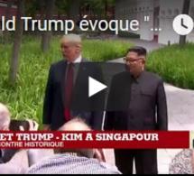 """Donald Trump évoque """"beaucoup de progrès"""" avec Kim Jong-un"""