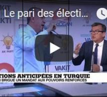 Le pari des élections anticipées en Turquie