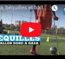Gaza, béquilles et ballon rond