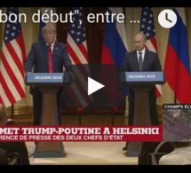 """""""Un bon début"""", entre Trump et Poutine à Helsinki"""