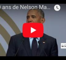 """100 ans de Nelson Mandela : Barack Obama rend homme au """"géant de l'histoire"""""""