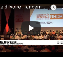 Journal de l'Afrique Côte d'Ivoire : lancement du parti unifié RHDP