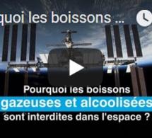 Pourquoi les boissons gazeuses et alcoolisées sont interdites dans l'espace ?