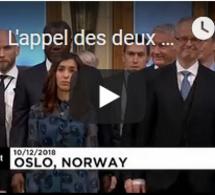 L'appel des deux Nobel de la Paix 2018 contre les violences sexuelles