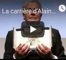 La carrière d'Alain Delon honorée à Cannes, l'acteur en larmes