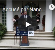 """Accusé par Nancy Pelosi de """"couvrir"""" ses fautes, Donald Trump réplique"""