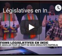 Législatives en Inde : les résultats partiels donnent la majorité absolue à Modi