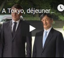 A Tokyo, déjeuner impérial pour le couple Macron