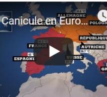 Canicule en Europe : le pic de chaleur est attendu dans la journée
