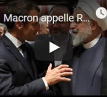Macron appelle Rohani à renouer le dialogue avec les Américains, en marge de l'AG de l'ONU