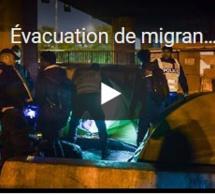 Évacuation de migrants dans le nord-est de Paris