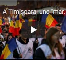 """A Timișoara, une """"marche de la liberté"""" pour les 30 ans de la révolution roumaine"""