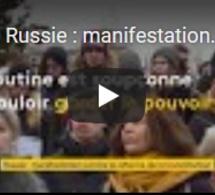 Russie : manifestation contre la réforme de la Constitution
