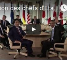 Réunion des chefs d'Etats et de gouvernement du G7 au Japon