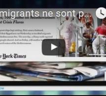 """""""Les migrants ne sont pas un danger, ils sont en danger"""""""