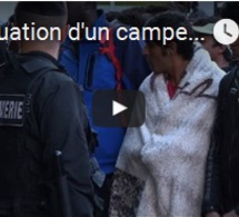 Evacuation d'un campement de migrants à Paris