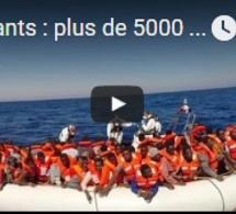 Migrants : plus de 5000 personnes secourues en Méditerrannée en une semaine