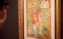 Vernissage à Rabat d' une exposition rétrospective consacrée à l' œuvre de feu Abbès Saladi