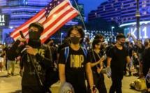 Manifestants asiatiques et rêve américain
