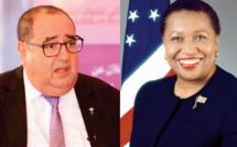 Conférence de presse de Driss Lachguar et Carol Moseley Braun, hôte de marque du Maroc et de l'USFP