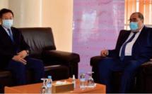 Le Premier secrétaire de l'USFP s ' entretient avec l' ambassadeur de la RP de Chine au Maroc