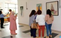 """Vernissage à Rabat de l' exposition """"L' orfèvre de la nature morte """" de Hassan Boukhari"""