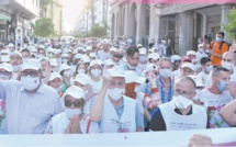 Entouré de dizaines d'Ittihadi(e)s, Driss Lachguar en tournée militante à travers Kénitra, Ouezzane, Chaouen, Tétouan et Casablanca