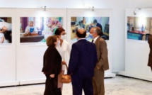 "Vernissage à Rabat de l' exposition ""Instantanés d'ONU Maroc """